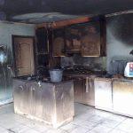 Reiniging na brand keuken